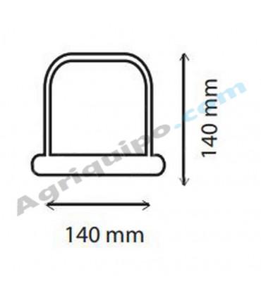 Rotativo con luz de LED y fijación magnética 140x140 mm