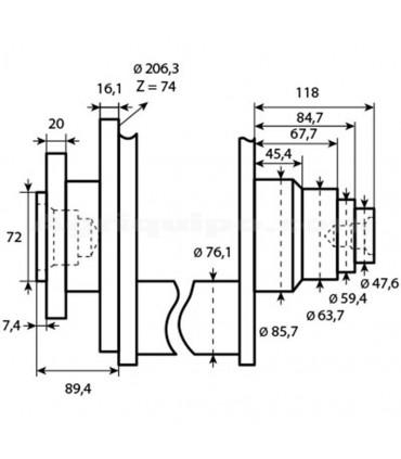 Cigüeñal motor John Deere 4050-4955