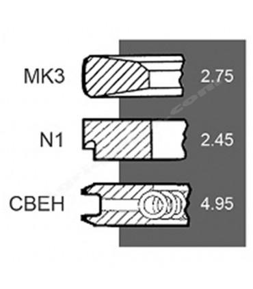 Juego de segmentos Deutz 102 mm (3 uds)