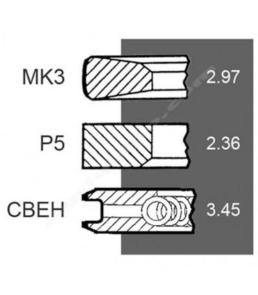 Juego de segmentos 106.5 mm John Deere