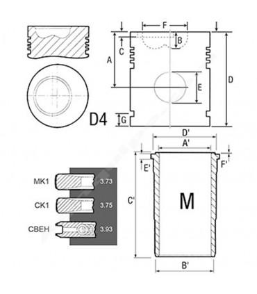 Equipo de motor John Deere 116 mm 4755-7700-7800