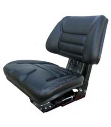 Asiento sin reposabrazos negro inclinable