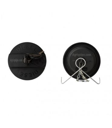 Tapón combustible rocado con llave, diámetro 60 mm