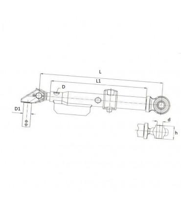 Tensor rígido rótula-articulación (410-510 mm) tipo Fiat New Holland