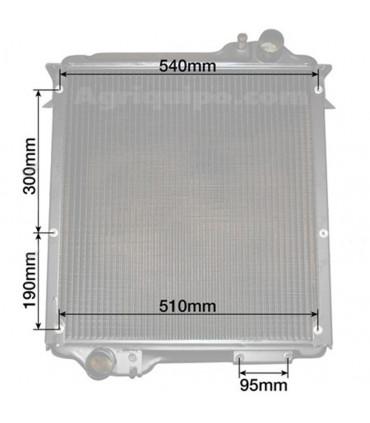 Radiador agua Massey Ferguson s.4200, 4300