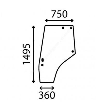 Cristal Puerta Izquierda Massey Ferguson Series 4200 y 4300