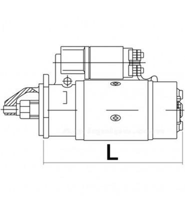 MOTOR DE ARRANQUE CON REDUCTOR 12V - 2,0 KW