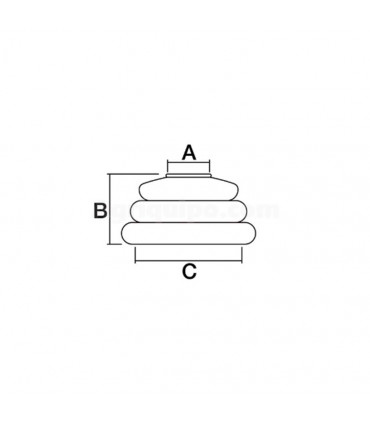 Guardapolvo rótula 20,25 mm x 44,5 mm altura 30 mm