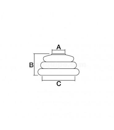 Guardapolvos rótula 15 mm x 35 mm altura 30 mm