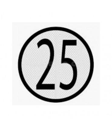 Disco límite velocidad 25 km/h