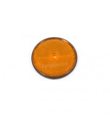 Catadióptrico naranja para atornillar redondo