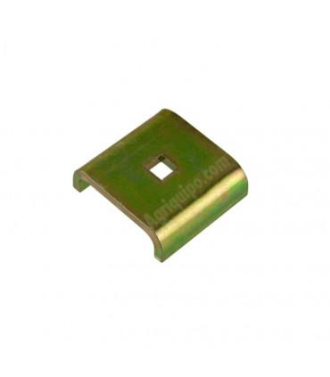 Chapa de roce 62.5x 58 x 5 mm agujero 11 x 11