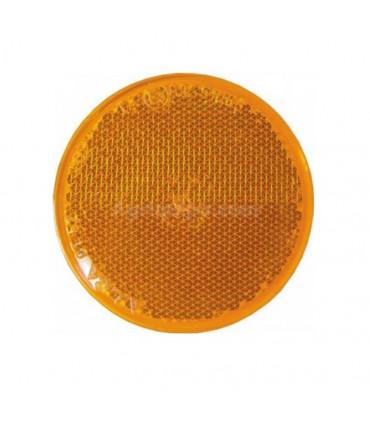 Catadióptrico Naranja adhesivo redondo diámetro 54 mm