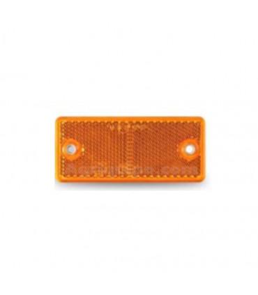 Catadióptrico Naranja para Atornillar Rectangular 106x50 mm