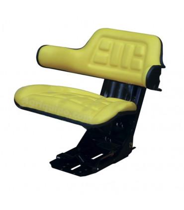 Asiento con reposabrazos amarillo PVC