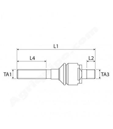 Rótula Axial M24x1.5 Derecha - M22x1.5 derecha