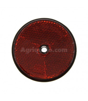 Catadióptrico Redondo Color Rojo con Tornillo de 60 mm