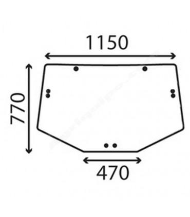 Cristal trasero superior John Deere S/6000-6010-6020