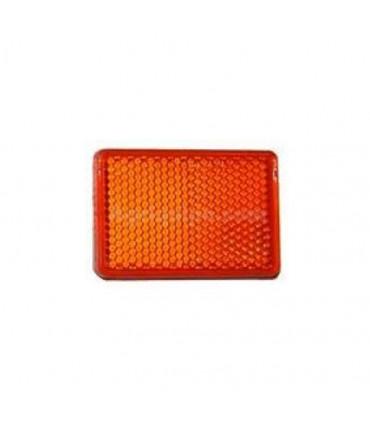 Catadióptrico rectangular naranja adhesivo 56x39mm