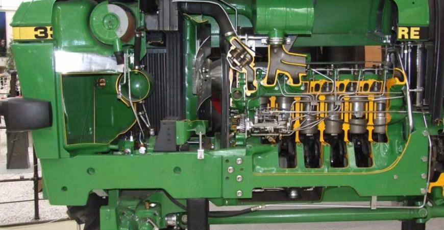Partes del motor de un tractor